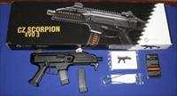CZ Scorpion EVO 3 S1 9MM Pistol NIB