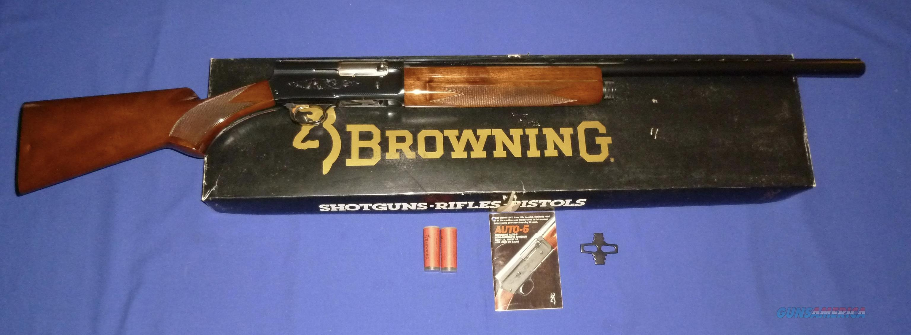 browning auto 5 light 12 12 gauge auto shotgun for sale rh gunsamerica com browning citori manual download browning citori repair manual