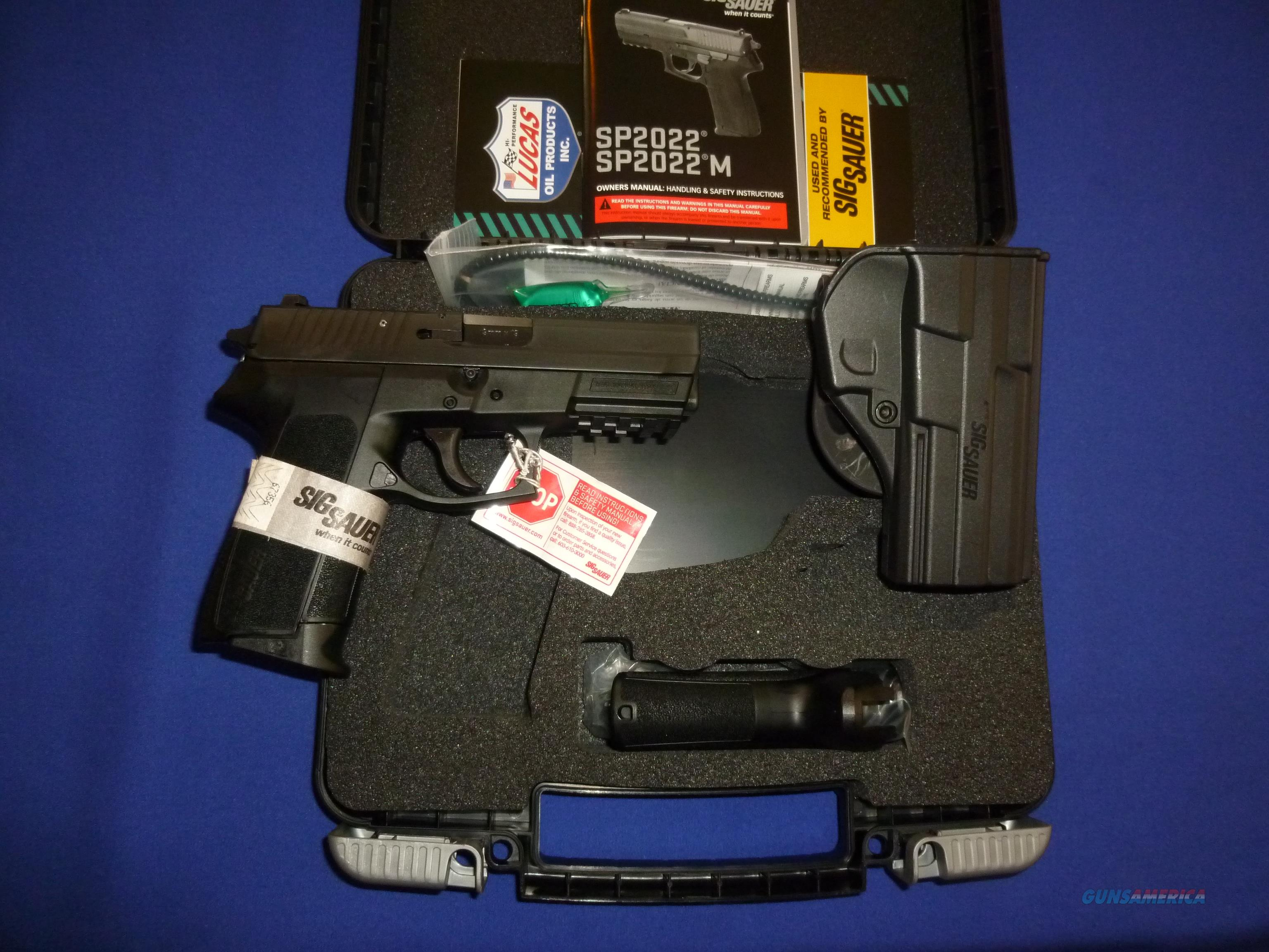 SALE PRICED! SIG SP2022 9MM PISTOL WITH CONTR... for sale