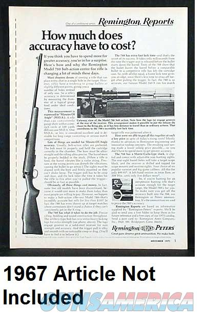 Remington model 788  243, 7mm-08, or  308 caliber Blue Steel 3 Shot  Magazine HFC Taiwan made on Remington Milling Equipment 1063