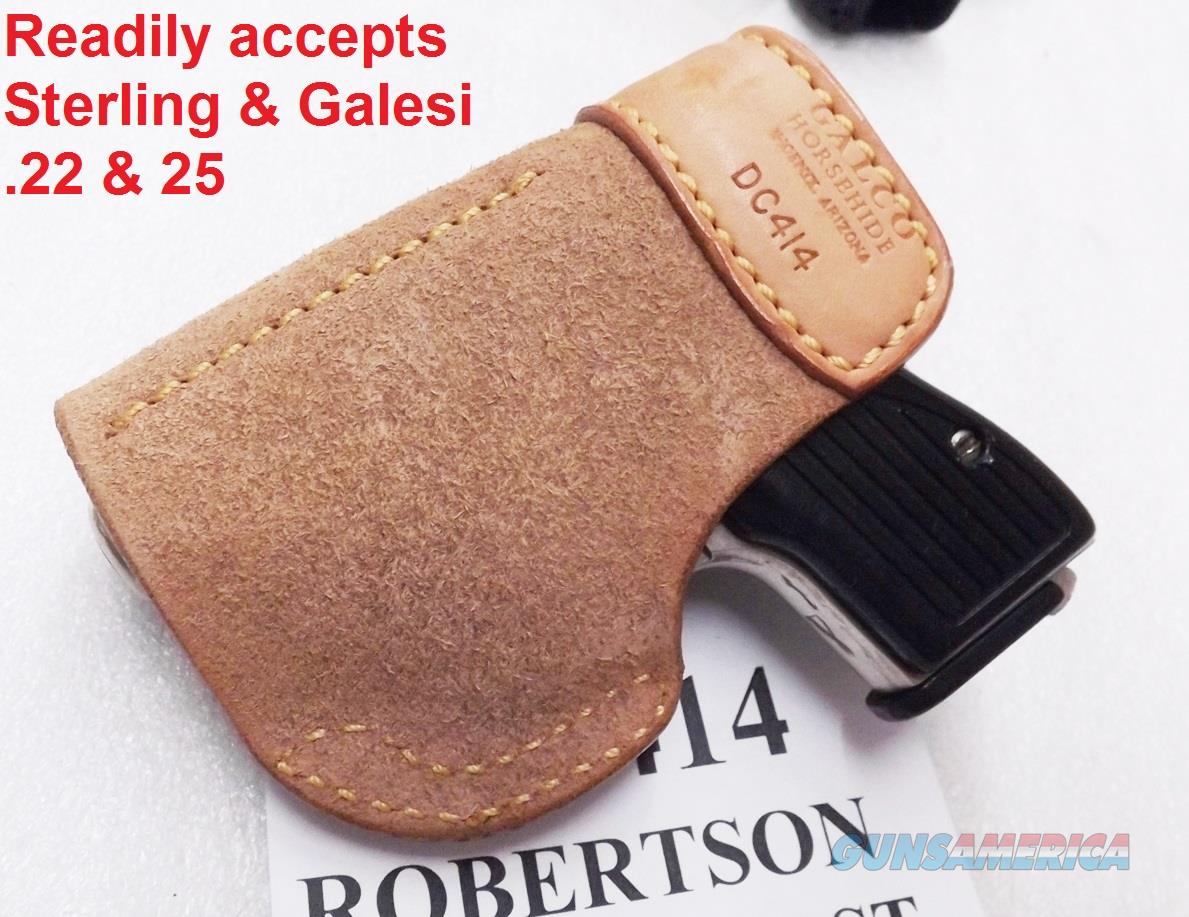 Galco Deep Cover Inside Pants IWB Holster North American  32  380 Guardian  Seecamp LWS Series DC414 Fits Several  22  25  32 and  380 LCP Ruger P32