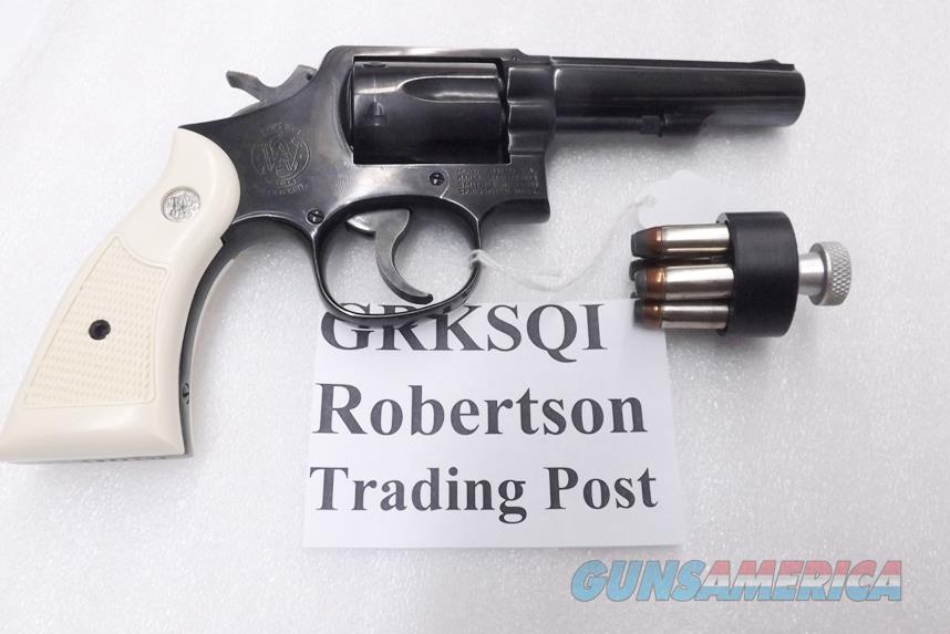 S&W K or L Frame Square Butt Imitation Ivory Revolver Grips for Smith &  Wesson models 10 15 19 64 65 66 with Medallions GRKSQI Smith & Wesson  Smooth