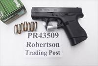Glock 9mm model 43 Slim G43 Sub Compact 7 Shot 2 Magazines PI4350201 Reconditioned to PR43509  Thin Flat Factory Warranty