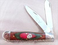 Knife White Tail Trapper Laminated Panels Pakistan ca. 1985