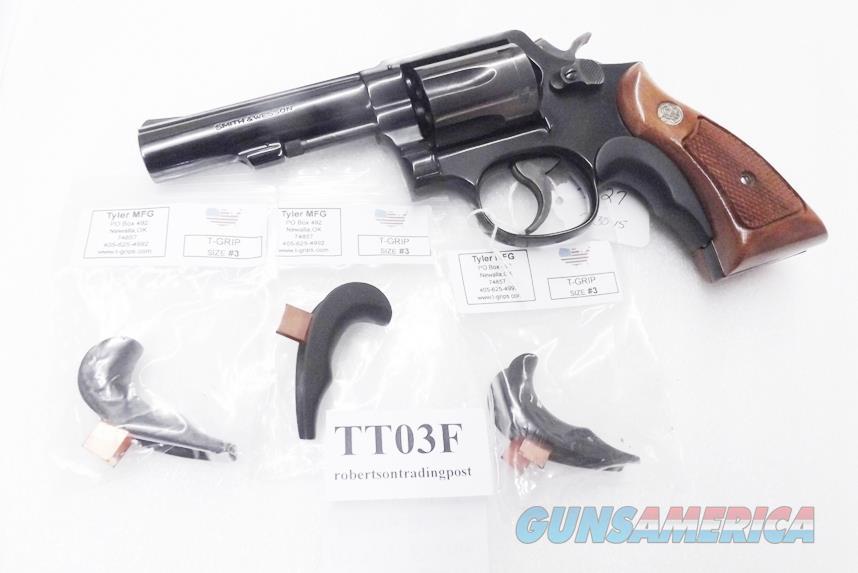 Tyler T Grip Adapter Smith & Wesson K L Square Butt Frame Revolver GRTT03F  Matte Flat Black 20FB#3 T-Grip Models 10, 12, 13, 14, 15, 16, 17, 18, 19,