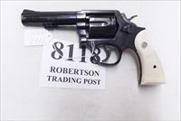 Smith & Wesson .38 Special Model 10-10 Blue 4 inch Heavy Barrel 1992 Very Good Cond Square Butt with Imitation Ivory Magna Grips