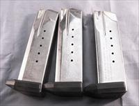 3 Smith & Wesson SW40F NO SW40 SW40E SW40VE Factory 15 Shot Magazines .40 S&W Caliber Stainless LE marked Exc ca 2002 $26 per on 3 or more