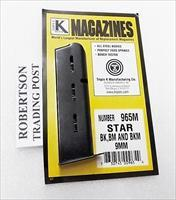 Star 9mm BM BK BKM Triple K 8 shot Pistol Magazine Blue Steel BM9 BK9 BKM9 NIB  965M XM965M Buy Three Ships Free!