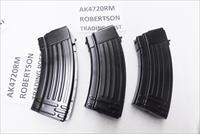 10 AK47 Magazines 20 Shot All Steel KCI Korea 7.62x39 AK Semi 76239 New Steel AK4720RM Ships Free! Teflon Finish