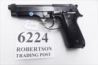 Beretta 9mm model 92S Italy Military Police Italian Carabinieri VG+ Finish but Etchy Bore Grooves JS92F300M type / ancestor c1978 w1 15 round Magazine Factory Gloss Anodized Frame, Blue Barrel & Slide +GBE