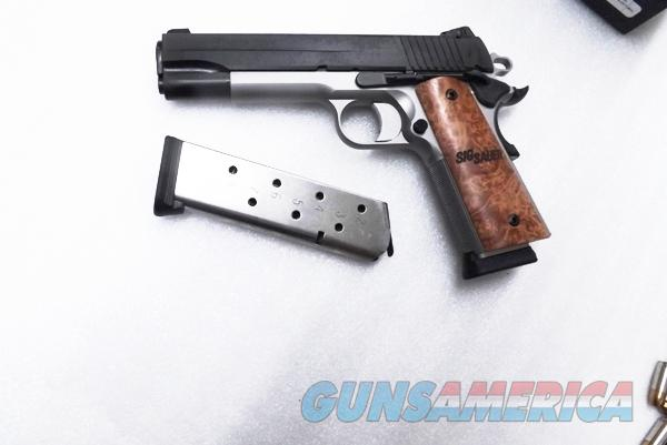 Sig  45 ACP 1911 TTT Gold Cup Elite type CA OK 9 Shot 2 Magazines Match  Barrel Dovetailed Adjustable Siglite Night Sights Sig Sauer Arms 45  Automatic