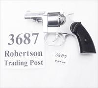 Serrifile .32 S&W Revolver Terrier 1 Clerke First descendant 2 1/2 inch Nickel Pot Metal