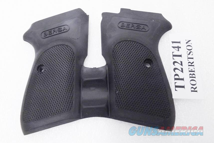 Bersa Thunder 380 22 32 Grips Combat Finger Groove Wrap around One Piece  fits only Thunder  22,  32, or  380 New Black