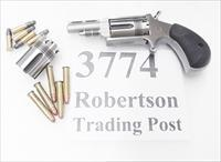 North American .22 LR Magnum Wasp Combo Mini Revolver 2 Cylinders 1 5/8 inch Vent Rib Stainless 5 Shot NAA Arms Manufacturing 22 Long Rifle & Magnum NAA22MGTW