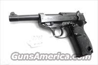 Walther 9mm P38 variant P1 Lightweight Military 1965 P-1 German Federal Border Guard BGS P-38 Descendant CA OK with 1 Factory 8 Shot Magazine