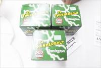 Ammo: .22 LR Remington Thunderbolt 4 Bricks 2000 rounds $36 per Brick = $3.60 per box rate TB Lead 40 grain 1255 fps 140 ft-lbs