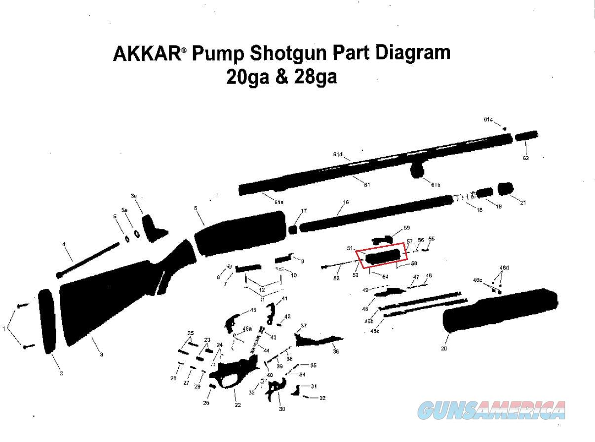 Pump Action Shotgun Diagram Lego Instructions Akkar Charles Daly 20 Gauge Model 300 Acti For Sale Remington 1100 Parts