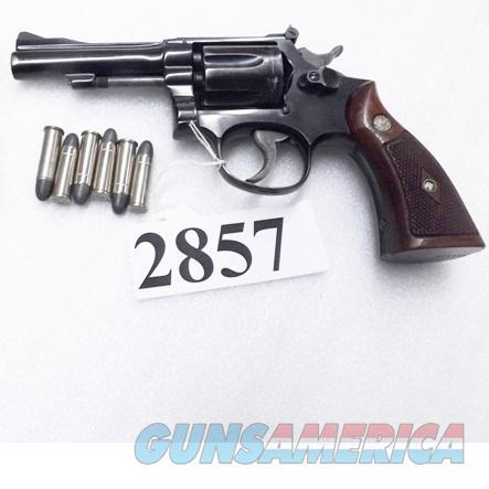 Smith & Wesson  38 Special K38 Combat Masterpiece Pre-15 1956 Blue 4 inch 4  Screw Diamond Magnas 38 Spl Winston Salem NC Domicile CA C&R OK