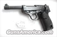 Walther 9mm P38 Lightweight Military 1959 P-38 German Federal Border Guard BGS CA C&R OK with 1 Factory 8 Shot Magazine