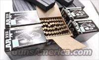 Ammo: .223 Federal 25 Box Equivalent Factory Case of 500 rounds 55 grain FMC Full Metal Case Jacket American Eagle Ammunition Cartridges AE223BL $7.80x20 equivalent