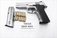 Smith & Wesson .40 model 4043 DAO Stainless DAO 2 Magazines late 1990s PA Police 40 S&W Caliber 108528