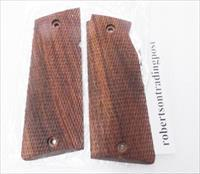 Grips for Star Spain 9mm Model Super B India Walnut Finish Cut Checkered Wood New 38 Super 9mm Largo Model Super B only Not Model B, BM, BKM or BS