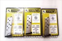 Lots of 3 Magazines S&W 9mm 8 Shot Models 3913 3914 3953 908 Flat Plate Triple K Nickel Smith & Wesson 3900 Series  $29 per on 3 or more