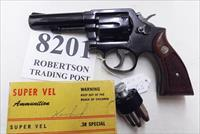 Smith & Wesson .38 Special Model 10-6 Heavy Barrel D683000 range 4 inch 1974 Montreal Police Department Blue with Magna Grips Good-VG Condition