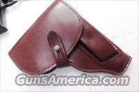 Walther PP Size Holster East German Military & Police Brown Leather Flap Type for 1001 Pistol PPK PPKS CZ50 CZ70 Fits Many 32 380 and 9x18 Makarov Caliber Pistols