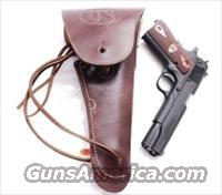 GI style Holster 45 Autos 1911 Pistols New India Dark Brown Leather WWI WWII type GL1101 Colt Government Model 45 Automatic