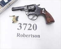 RG Rohm .22 LR model RG14S 3-3/8 inch 6 Shot Pull Pin Swingout Double Action Revolver