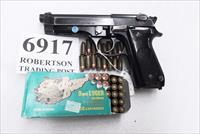 Beretta 9mm model 92S Italy Military Police Italian Cearabinieri VG 1980 Marshal Silvio Trimarchi Issue JS92F300M type / ancestor c1978 with 15 Round with 1 Pr-Ban Magazine