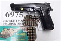 Beretta 9mm model 92S Italy Military Police Italian Carabinieri VG JS92F300M type / ancestor c1978 w1 15 round Magazine Factory Gloss Anodized Frame, Oxide Barrel, Brunitron Slide VGRO