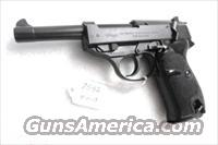 Walther 9mm P38 Lightweight Military 1961 P-38 German Federal Border Guard BGS CA C&R OK with 1 Factory 8 Shot Magazine