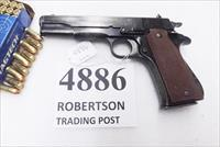 Star 9mm model B Super Spanish Army 1971 Good Slide Finish Blems 5 inch Blue 9 Shot 1 Magazine Super B Colt Government Size