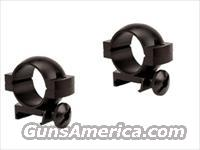 "Tasco 1 inch Scope Rings for 3/8"" Dovetailed .22 Grooved Receiver Rimfire Rifles 797DSC Black Anodized with Steel Screws & Allen Wrench Buy 3 Ships Free!"