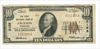United States National Currency 1929 $10 Note First National Bank of Jackson Tennessee Very Fine Condition Our USN008 Buy 3 Items and Shipping is Free Lower 48