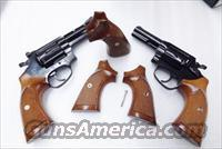 Rossi Revolver Grips Sile Italian Walnut fit Current Production Rossis incl. Models 68 88 351 352 461 462 851 971 972 Modified from Old Stock S&W J Square Grips Herretts type