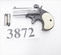 Remington Derringer Copy FIE .38 Special Chrome & Black 1980s Production Imitation Ivory Grips G-VG