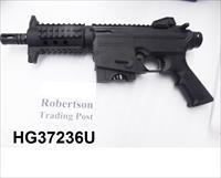 Mossberg .22 LR model 715P Black AR15 type Pistol Picatinny Rails 6 inch Cage Suppressor with 1 10 Shot Magazine