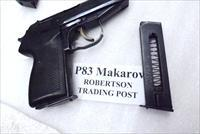 Radom Polish P83 Pistol Factory 8 Shot Magazine 9x18 Makarov Caliber Poland P-83 Blue Steel