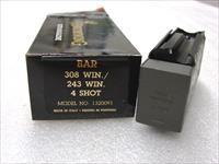 Browning BAR Factory 4 Shot Magazines for .243 .308 calibers Old Model Pre 1994 B.A.R. Short Action No Mk II Browning Automatic Rifle Pre-Mark II Long Action 243 308 1320091 Buy 3 Ships Free!