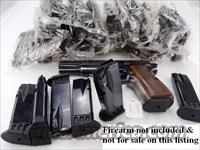 Browning Hi-Power 9mm Magazines Lots of 10 at $18 per Ten Shot 9mm Mec-Gar New Unissued MecGar clip for High Power HiPower California Chicago Hawaii Massachusetts Compliant