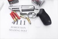 Taurus .45 / .410 model 4510 Judge 2 1/2 inch Cylinder Chambers 3 in Barrel Stainless 45 Colt 410 gauge 2 1/2 Shells Interchangeably 2441039T Exc in box