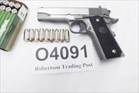Colt .45 ACP Stainless Combat Commander O4091U NIB 2 Magazines $789 - below wholesale add $29 for Ajax Ivory Grips 45 Automatic Full Government Grip Frame 04091