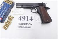 Star 9mm model B Super Spanish Army 1972 Very Good 5 inch Parkerized 9 Shot 1 Magazine Super B Colt Government Size