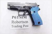 Sig Sauer 9mm model P6 / P225 West German Police Trainer Pistol 1979 – 1981 Production with Simunition Barrel 9 Shot with Dovetailed Magazine 2 Tone White Slide