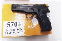 Sig 9mm P-226 All German 16 Shot 1988 Swiss Police Original Factory Orange Box 3 Dot Sight with 1 Factory Magazine E26R9B