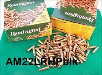 Ammo: .22 LR HP Remington Hollow Point 3 Bricks 1575 rounds $39 per Brick = $3.72 per box rate 1622C Golden Bullet 1280 fps 131 ft-lbs