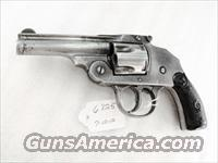 Iver Johnson .38 Smith & Wesson caliber Safety Hammerless Second Model Top Break ca. 1901 Fair 38 S&W Black Powder Cartridges Only Not Made for Smokeless Powder C&R OK
